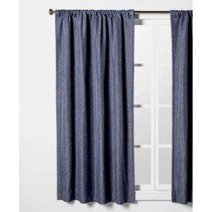 Curtain panel room darkening 42x84 rod pocket blue